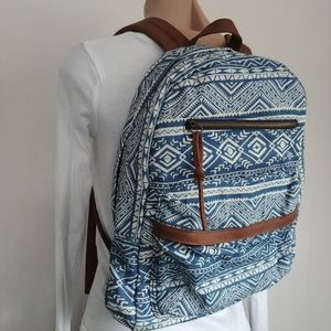 Claire's Striped Lightweight Tribal Backpack